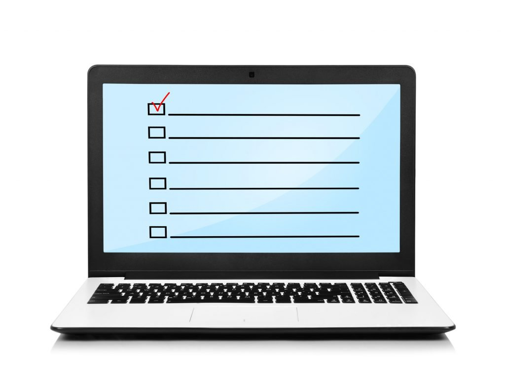 questionnaire screen